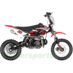 "DB-G005 Apollo DB-35 125cc Dirt Bike with 4-Speed Manual Transmission, High Strength Steel! Kick Start, Big 14""/12"" Tires!"