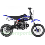 "DB-G006 Apollo DB-34 110cc Dirt Bike with 4-Speed Semi-Automatic Transmission, Kick Start! 14""/12"" Tires!"