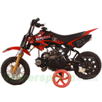 "DB-G008 Apollo DB-21 70cc Dirt Bike with Semi-Auto Transmission, 10"" Wheels, Kick Start! with Free Training Wheels!"