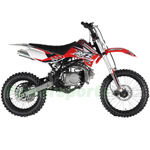 "DB-G009 Apollo DB-X18 125cc Dirt Bike with 4-Speed Manual Transmission, Double Spare Frame! Kick Start, Big 17""/14"" Tires!"