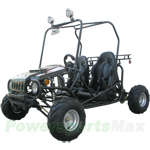 "GK-T002 ATK-125A 125cc Go Kart with Semi-Automatic Transmission w/Reverse, Disc Brakes, Roof Lights! Big 16"" Wheels!"