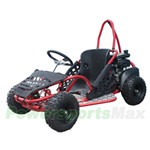 "GK-T012 80cc Go Kart with Automatic Transmission, Hydraulic Disc, Chain Drive! Recoil start! 13"" Wheels! An Adjustable Seat!"