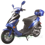 "MC-G014 Solana 50cc Moped Scooter with 12"" Wheels, Electric/Kick Start! Rear Trunk!"