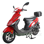"MC-N013 50cc Moped Scooter with 10"" Wheels, Rear Trunk, Electric/Kick Start! Large Headlight!"