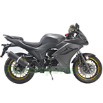 "MC-N016 125cc Street Motocycle with Manual Transmission, Electric/Kick Start! Big 17"" Wheels!"