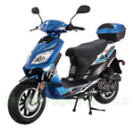 "Taotao Thunder 50cc Moped Scooter with 12"" Wheels, Rear Trunk! Front Disc and Rear Drum Brakes, High Quality!"