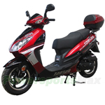 "MC-T24 50cc Moped Scooter with 12""  Wheels, Electric / Kick Start, Rear Trunk! New Arrival!"