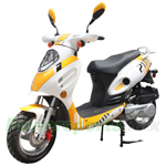 "MC-X10 150cc Moped Scooter with Sports Style, 12"" IRON Wheels, New Arrival!"