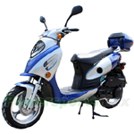 "MC-X25 150cc Moped Scooter with Sporty Style, 13"" Aluminum Wheels and Rear Trunk!"
