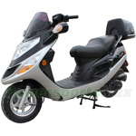 "MC-X27 150cc Touring Style Moped Scooter with 10"" Aluminum Wheels, Foot Brake, Rear Trunk!"