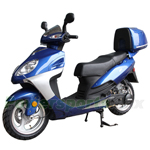 "MC-X35 150cc Moped Scooter with 13"" Wheels and Rear Trunk!Electric/Kick Start!"
