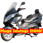 MC-E20-R170 260cc Moped Scooter, Refurbished, Fully Assembled and Tested!
